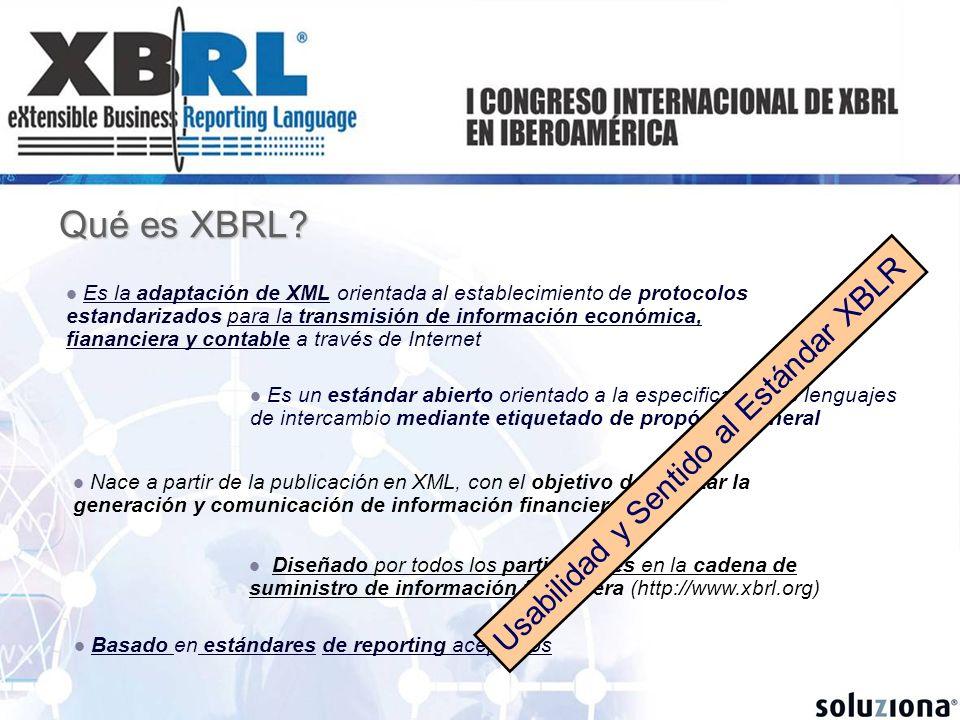 Qué es XBRL Usabilidad y Sentido al Estándar XBLR