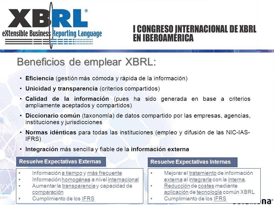 Beneficios de emplear XBRL: