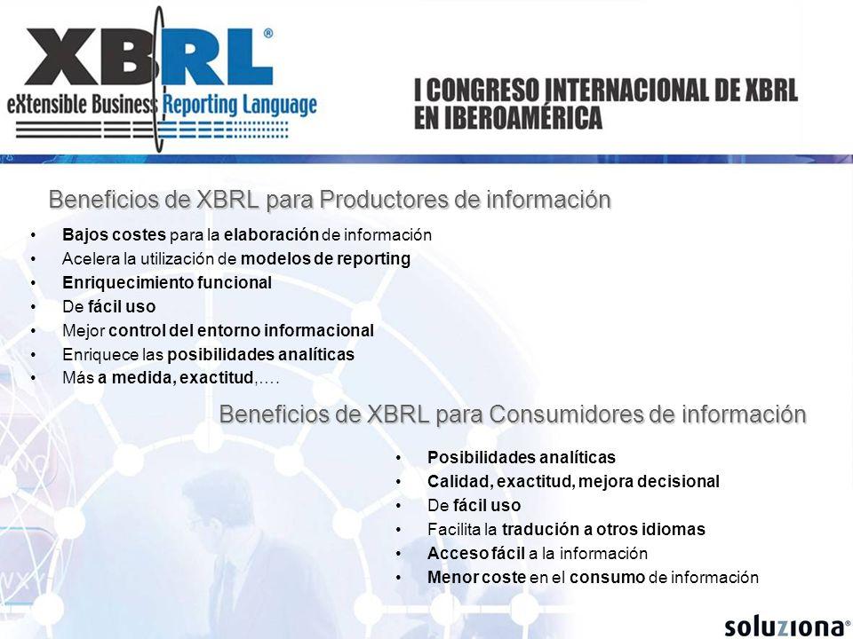 Beneficios de XBRL para Productores de información