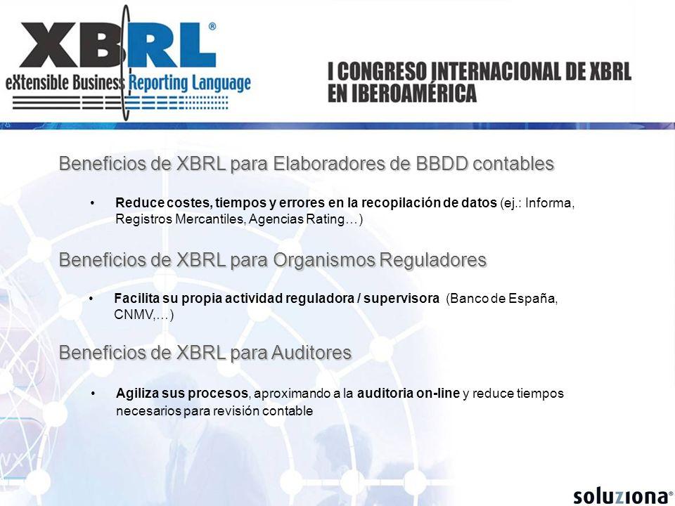 Beneficios de XBRL para Elaboradores de BBDD contables