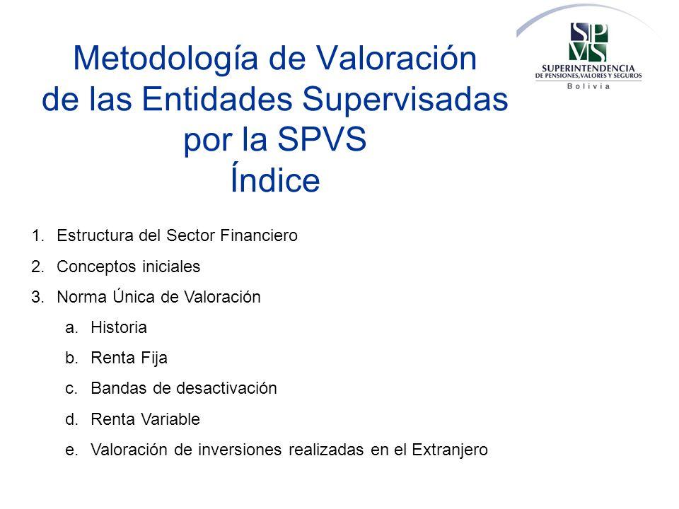Metodología de Valoración de las Entidades Supervisadas por la SPVS Índice
