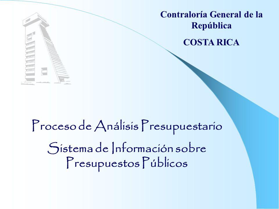 Proceso de Análisis Presupuestario
