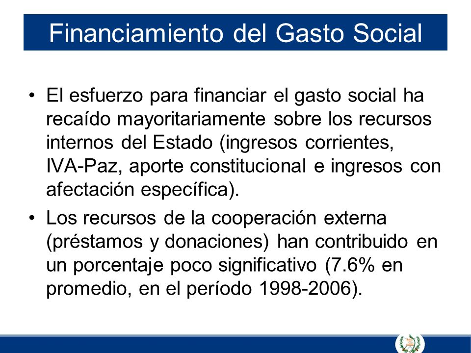 Financiamiento del Gasto Social