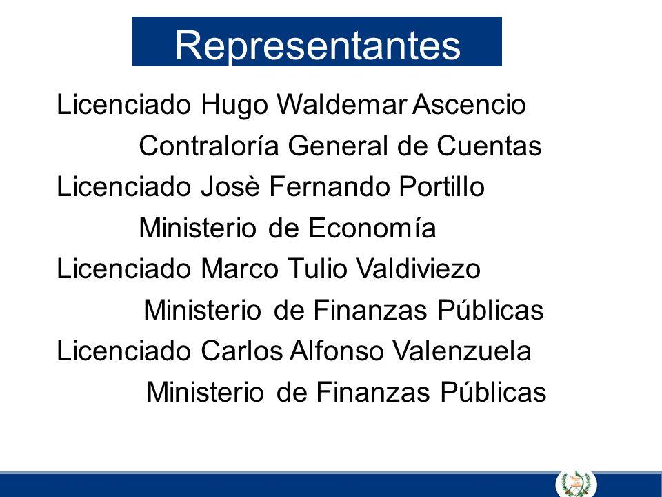 Representantes Licenciado Hugo Waldemar Ascencio