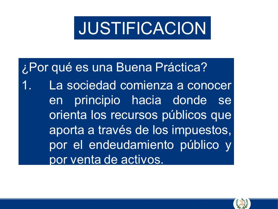 JUSTIFICACION ¿Por qué es una Buena Práctica