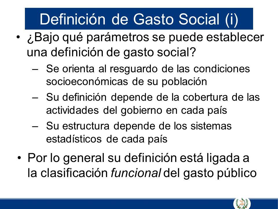 Definición de Gasto Social (i)