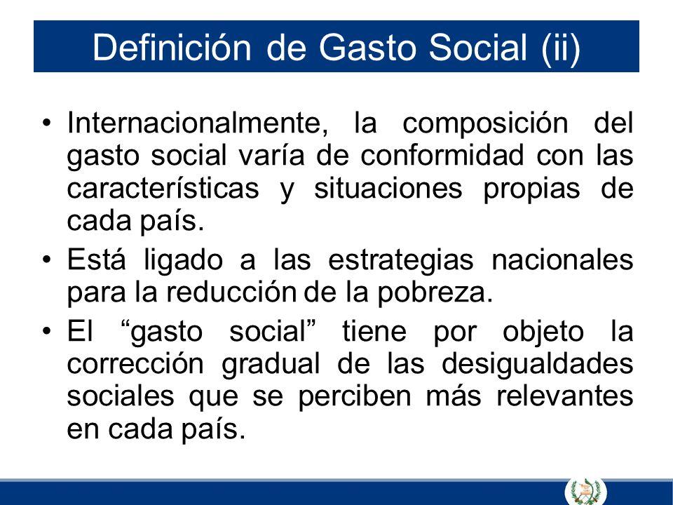 Definición de Gasto Social (ii)