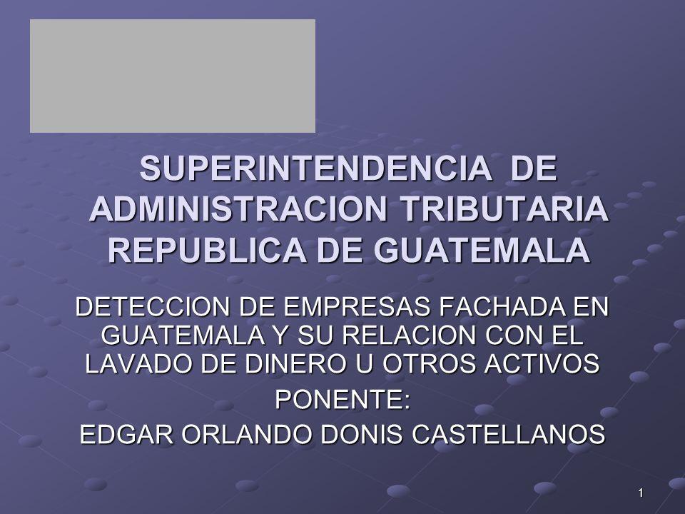 SUPERINTENDENCIA DE ADMINISTRACION TRIBUTARIA REPUBLICA DE GUATEMALA