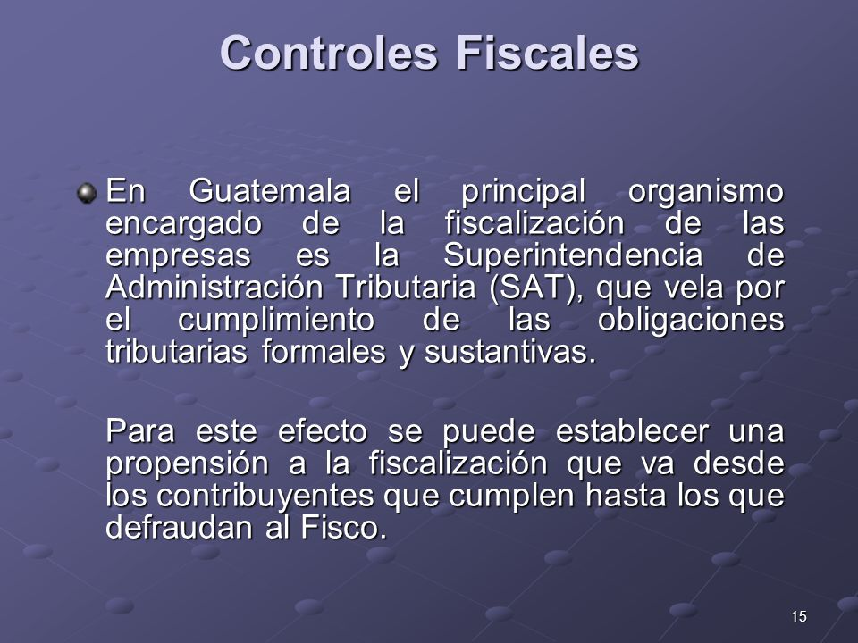 Controles Fiscales