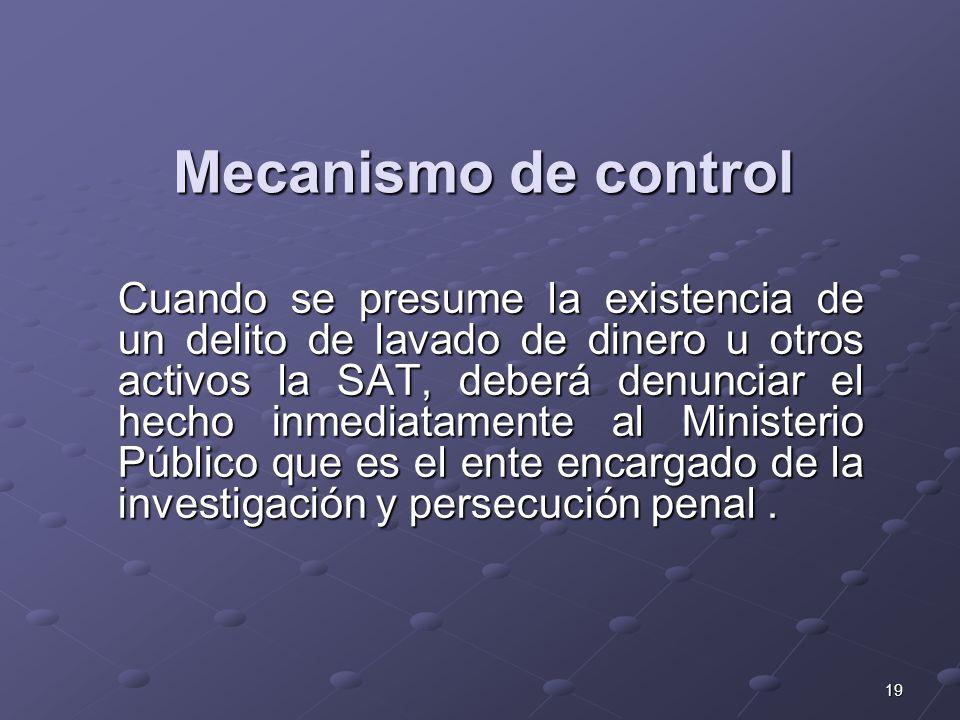 Mecanismo de control