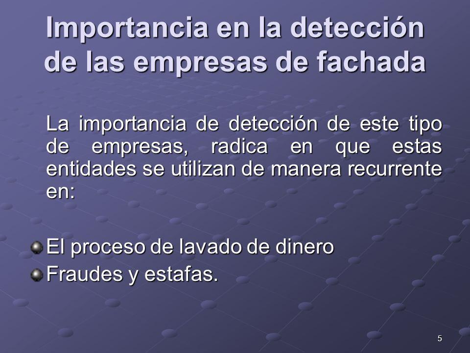 Importancia en la detección de las empresas de fachada
