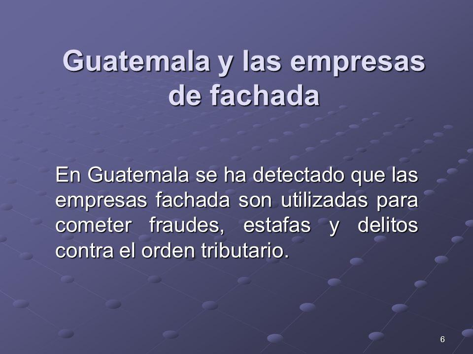 Guatemala y las empresas de fachada