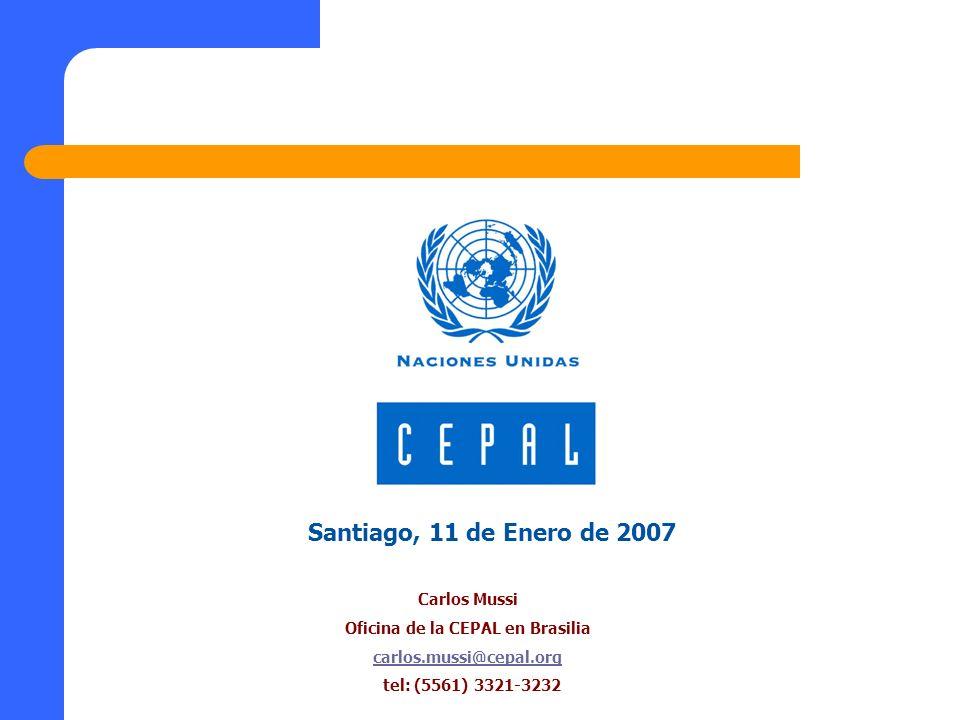 Santiago, 11 de Enero de 2007 Carlos Mussi