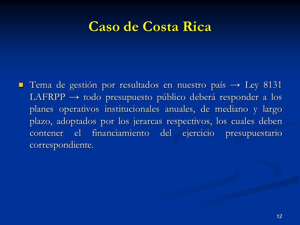 Caso de Costa Rica