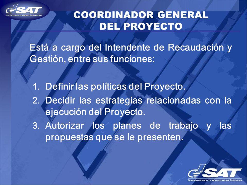 COORDINADOR GENERAL DEL PROYECTO