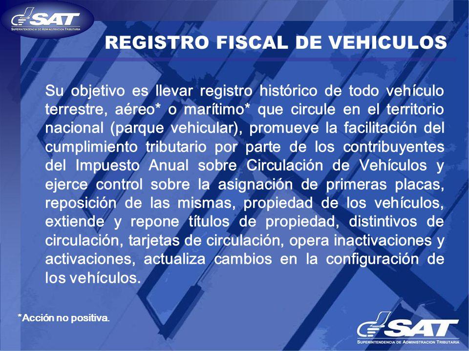 REGISTRO FISCAL DE VEHICULOS