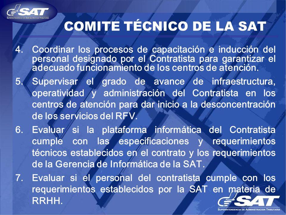 COMITE TÉCNICO DE LA SAT