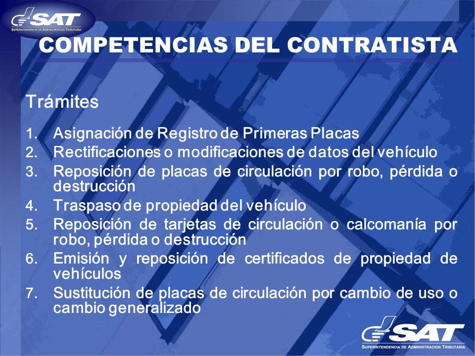 COMPETENCIAS DEL CONTRATISTA