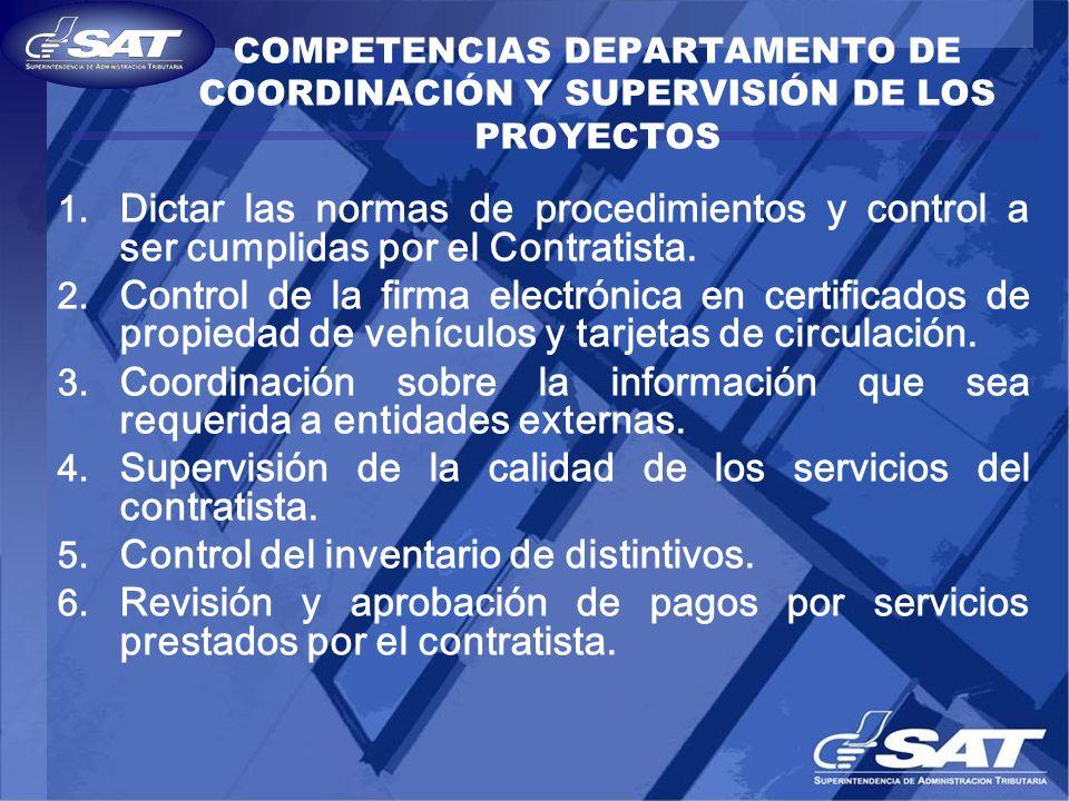 Supervisión de la calidad de los servicios del contratista.
