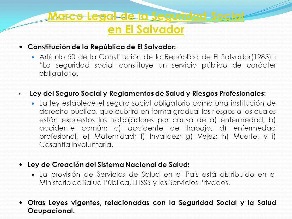 Marco Legal de la Seguridad Social en El Salvador