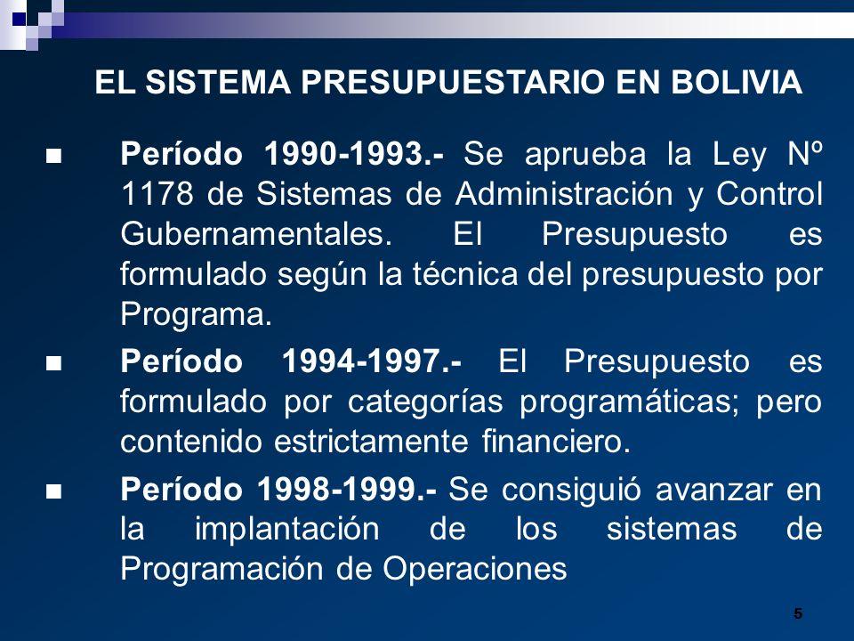 EL SISTEMA PRESUPUESTARIO EN BOLIVIA