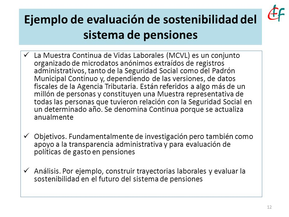 Ejemplo de evaluación de sostenibilidad del sistema de pensiones