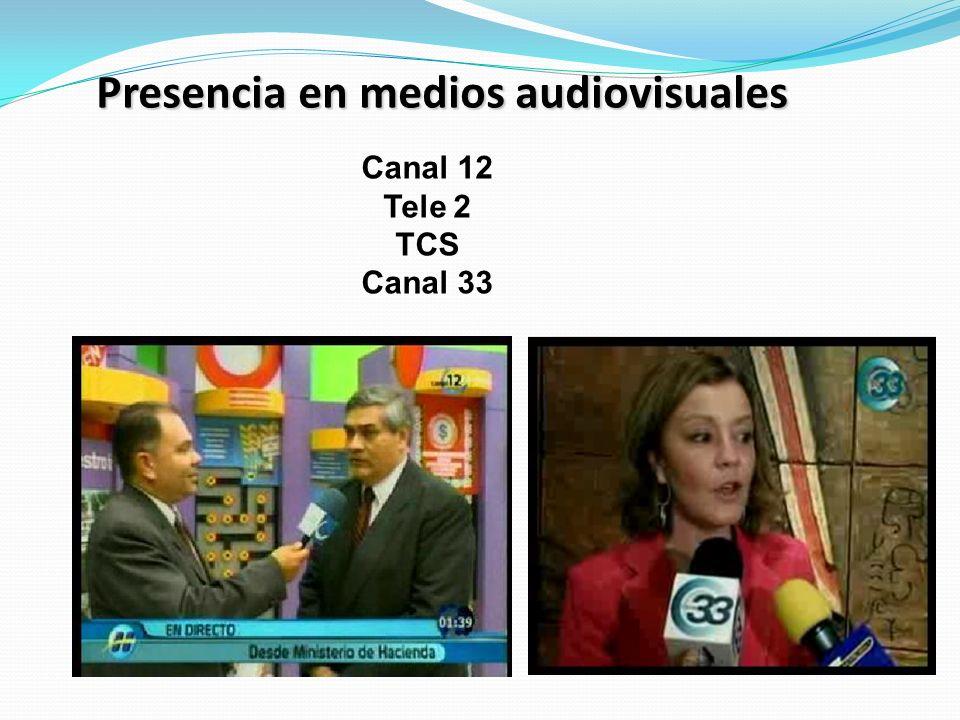 Presencia en medios audiovisuales