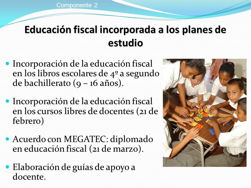 Educación fiscal incorporada a los planes de estudio