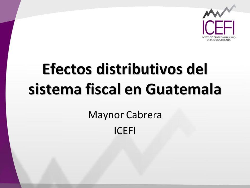 Efectos distributivos del sistema fiscal en Guatemala
