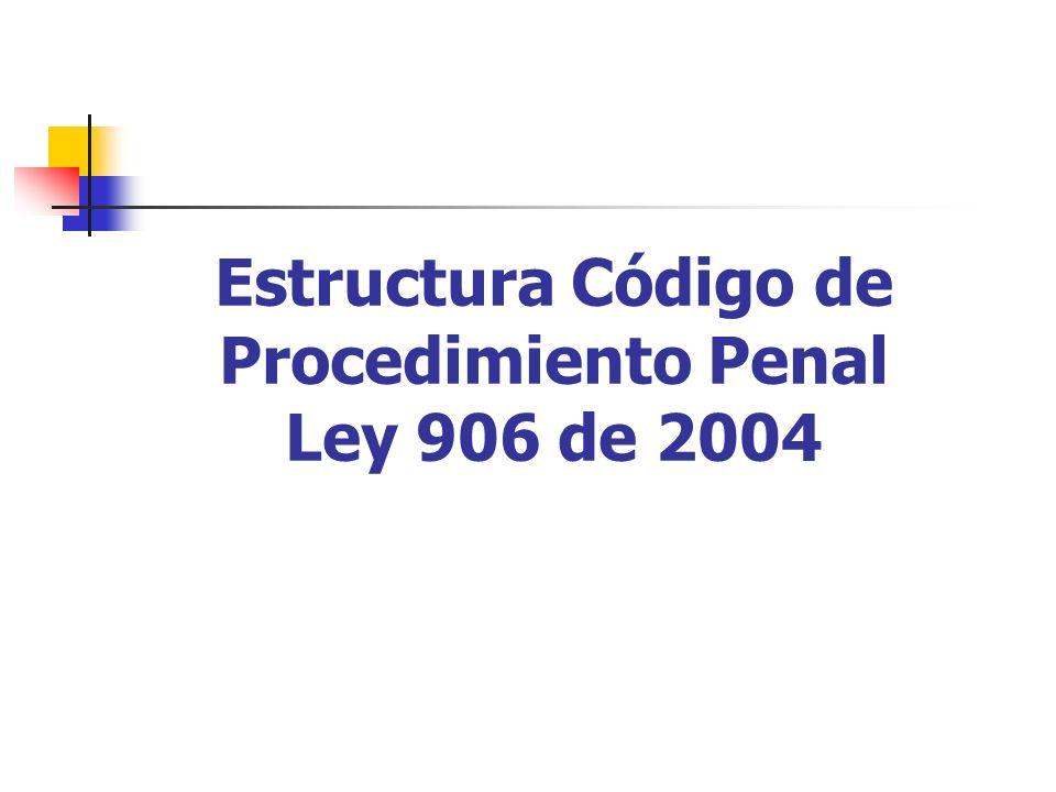 Estructura Código de Procedimiento Penal Ley 906 de 2004