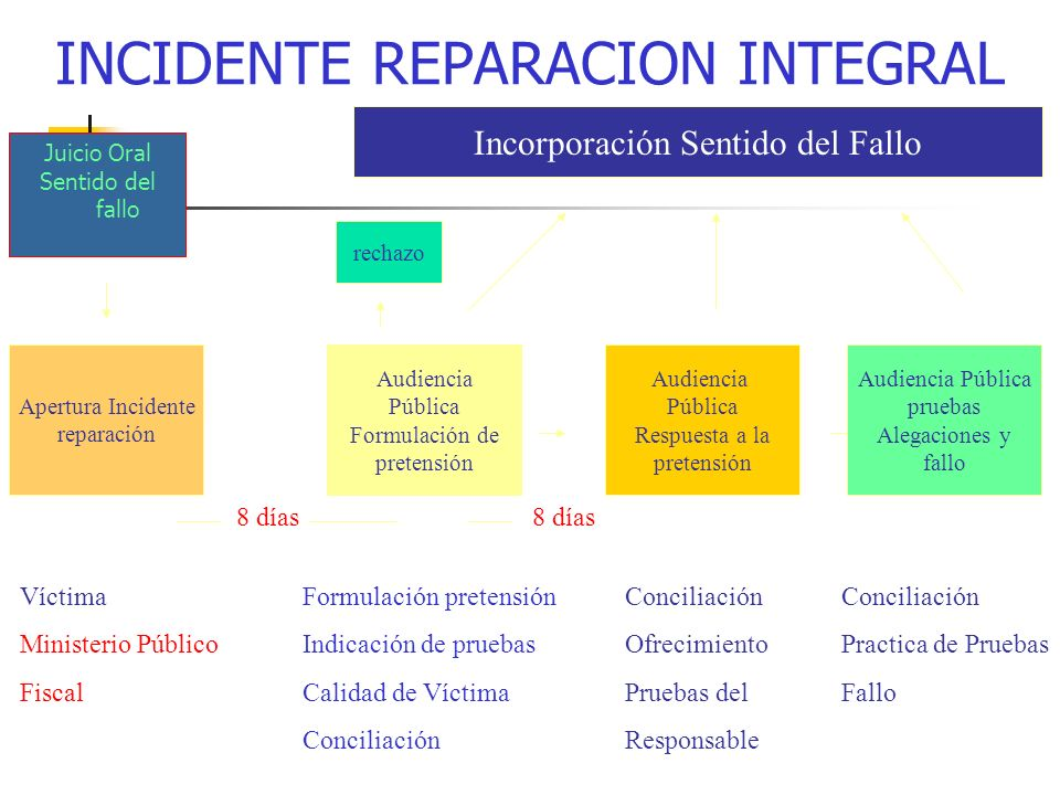 INCIDENTE REPARACION INTEGRAL