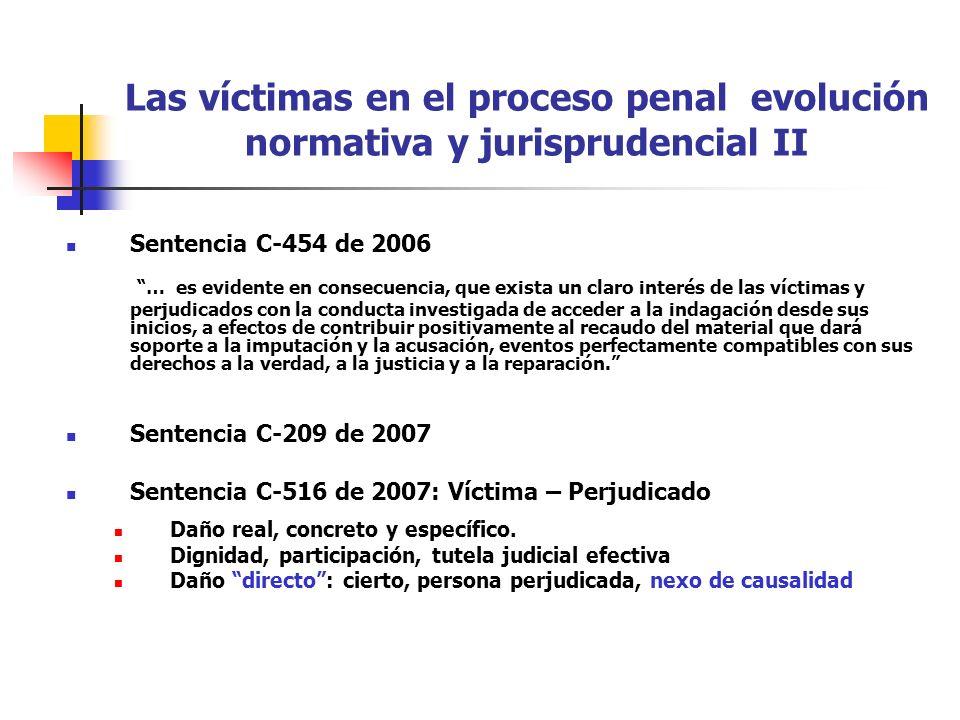 Las víctimas en el proceso penal evolución normativa y jurisprudencial II