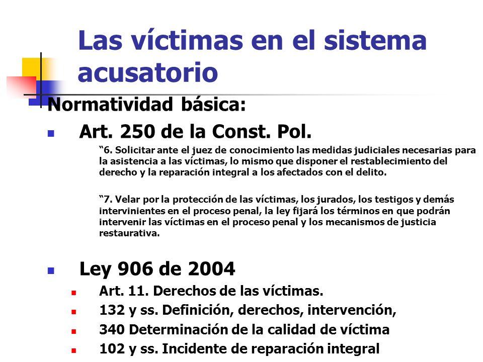 Las víctimas en el sistema acusatorio