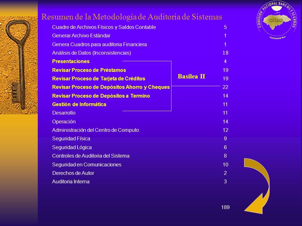 Resumen de la Metodología de Auditoria de Sistemas