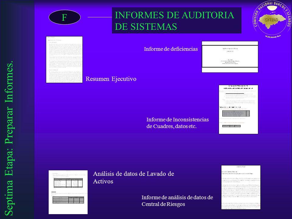 Septima Etapa: Preparar Informes.