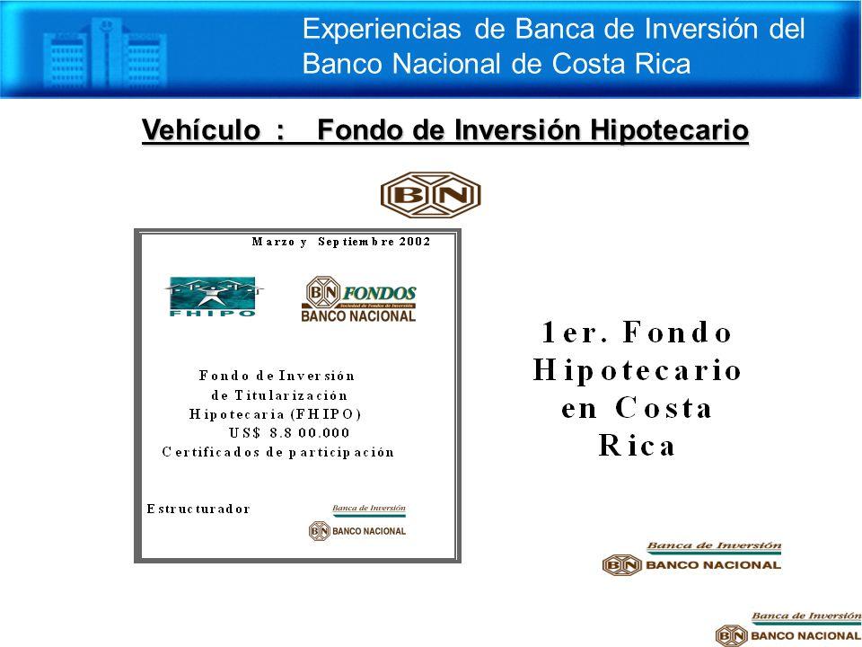 Vehículo : Fondo de Inversión Hipotecario