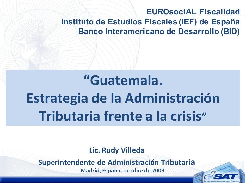 Lic. Rudy Villeda Superintendente de Administración Tributaria