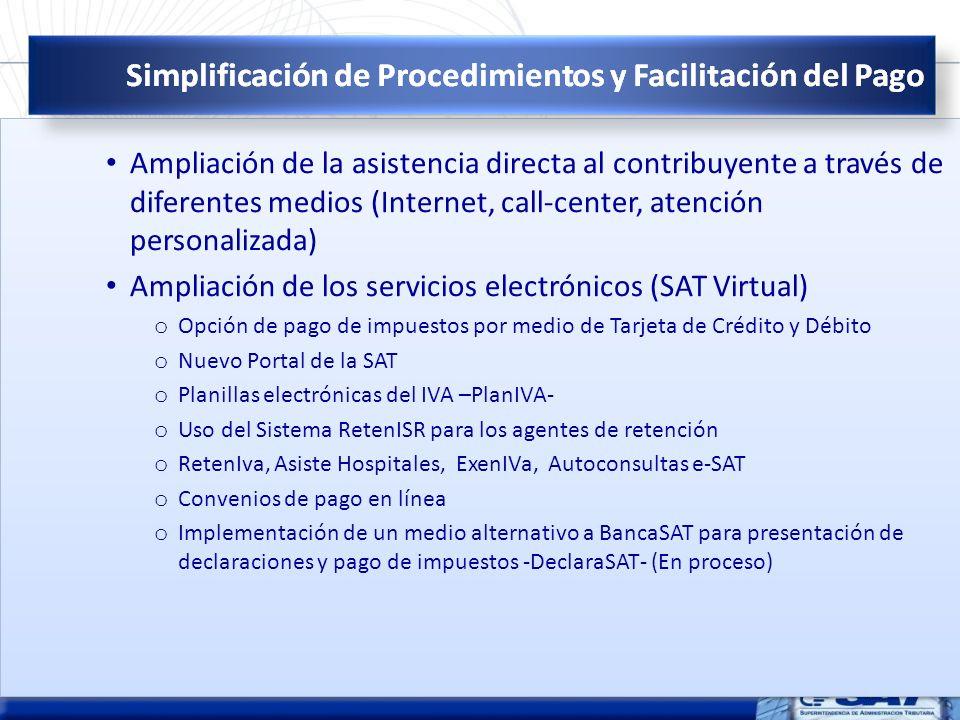 Ampliación de los servicios electrónicos (SAT Virtual)