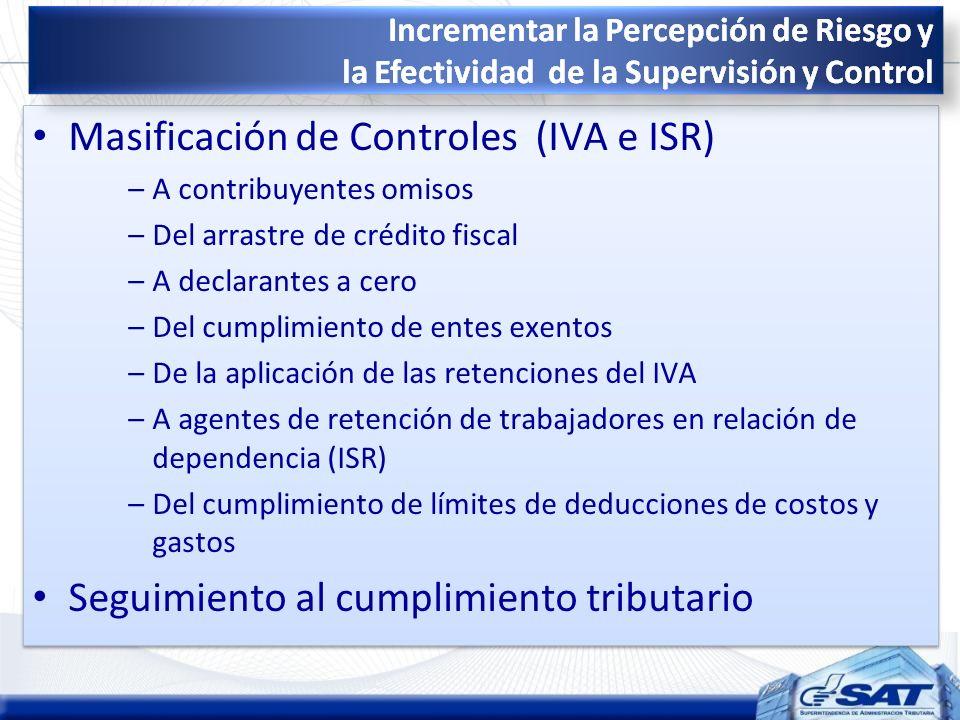 Masificación de Controles (IVA e ISR)