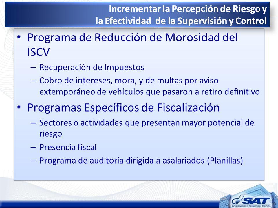 Programa de Reducción de Morosidad del ISCV