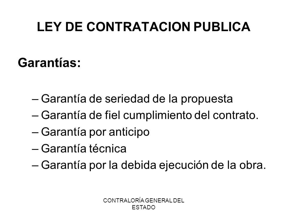 LEY DE CONTRATACION PUBLICA