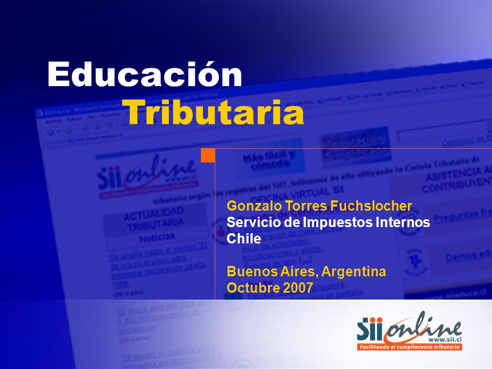 Educación Tributaria Gonzalo Torres Fuchslocher