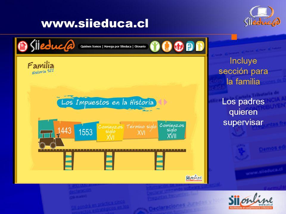 www.siieduca.cl Incluye sección para la familia