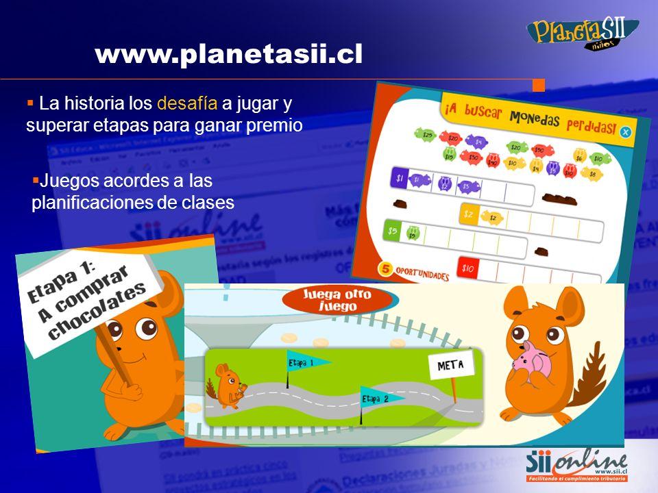 www.planetasii.cl La historia los desafía a jugar y superar etapas para ganar premio.
