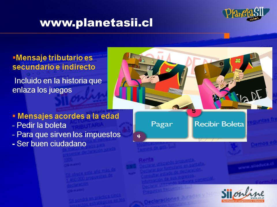 www.planetasii.cl Mensaje tributario es secundario e indirecto
