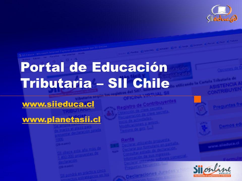 Portal de Educación Tributaria – SII Chile