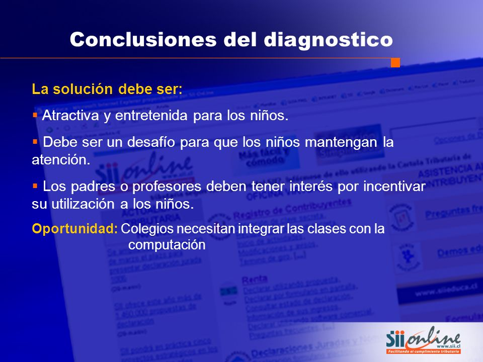 Conclusiones del diagnostico