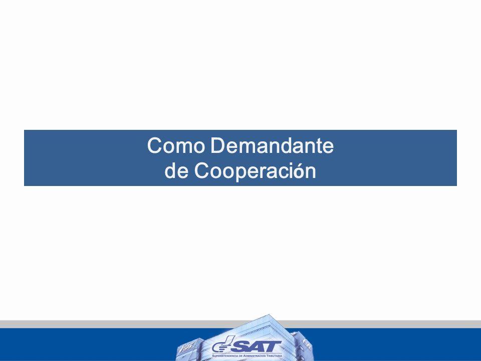 Como Demandante de Cooperación
