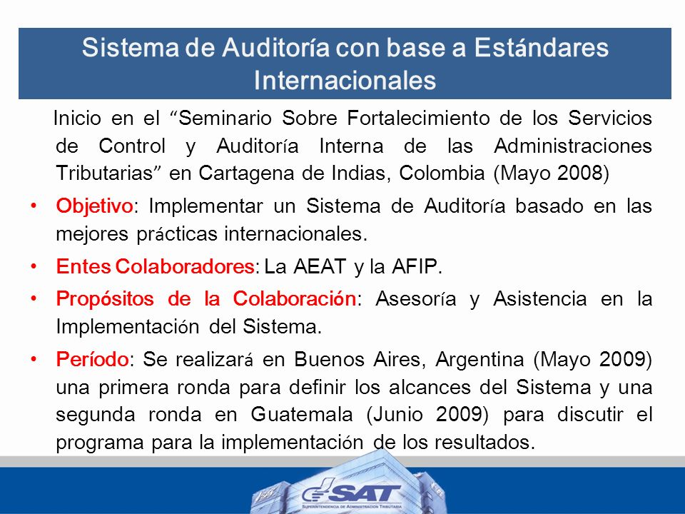 Sistema de Auditoría con base a Estándares Internacionales