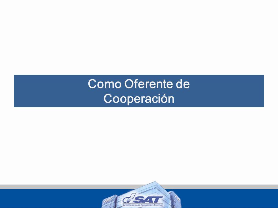Como Oferente de Cooperación